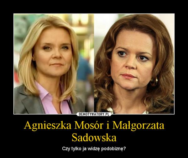 Agnieszka Mosór i Małgorzata Sadowska – Czy tylko ja widzę podobiznę?