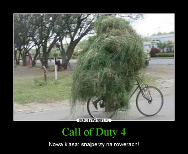 Call of Duty 4 – Nowa klasa: snajperzy na rowerach!
