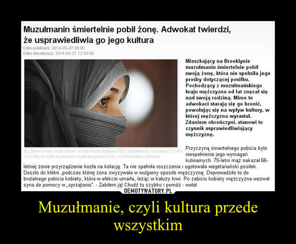Muzułmanie, czyli kultura przede wszystkim –