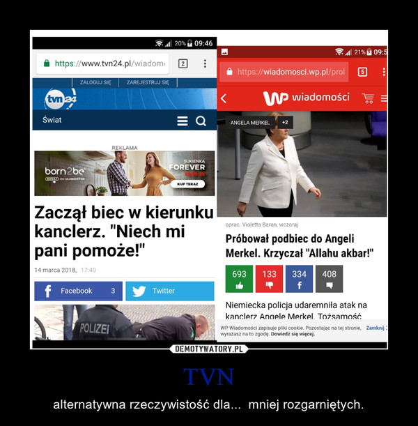 TVN – alternatywna rzeczywistość dla...  mniej rozgarniętych.
