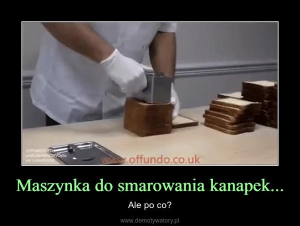 Maszynka do smarowania kanapek... – Ale po co?