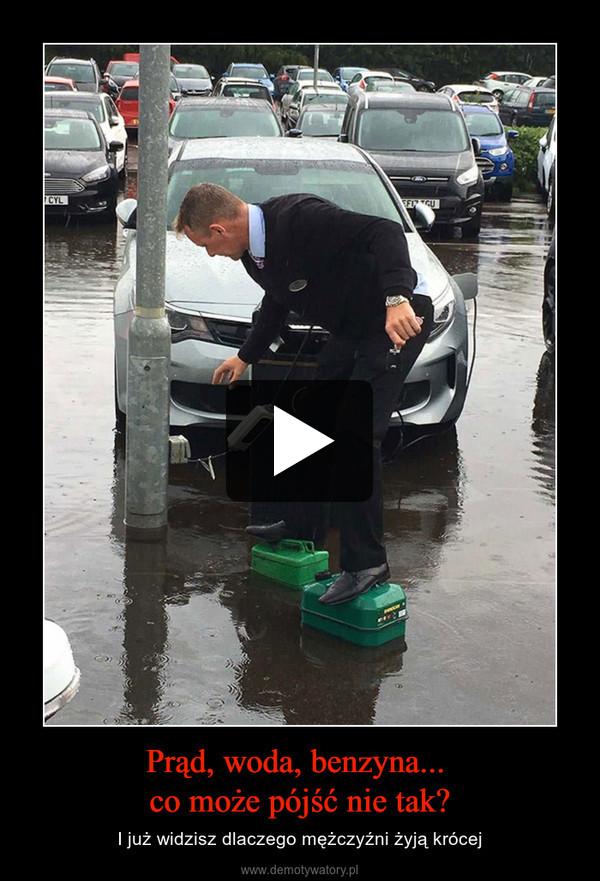 Prąd, woda, benzyna... co może pójść nie tak? – I już widzisz dlaczego mężczyźni żyją krócej