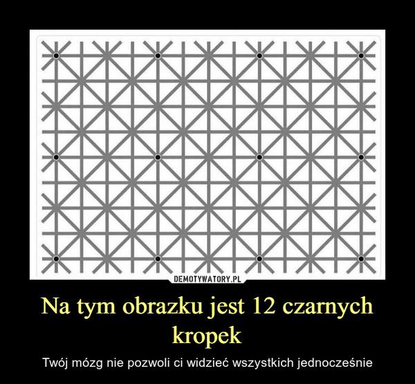 Na tym obrazku jest 12 czarnych kropek – Twój mózg nie pozwoli ci widzieć wszystkich jednocześnie