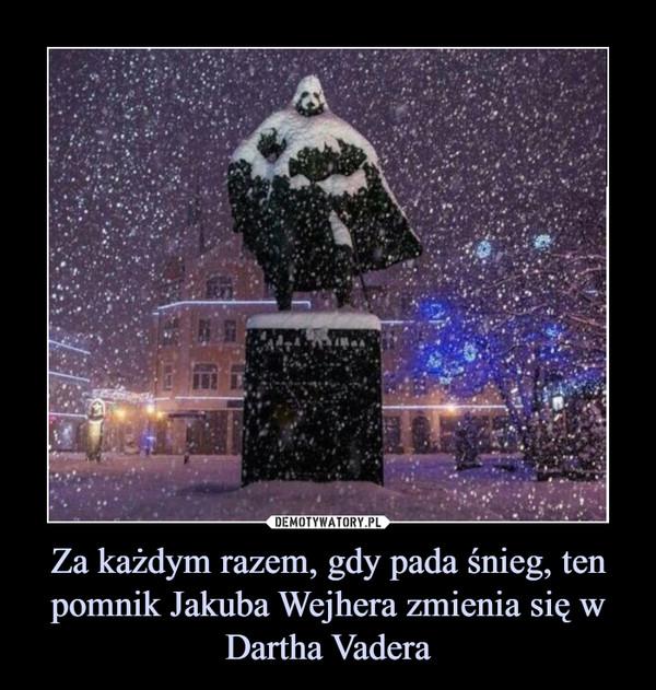 Za każdym razem, gdy pada śnieg, ten pomnik Jakuba Wejhera zmienia się w Dartha Vadera –