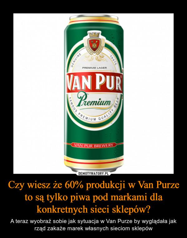 Czy wiesz że 60% produkcji w Van Purze to są tylko piwa pod markami dla konkretnych sieci sklepów? – A teraz wyobraź sobie jak sytuacja w Van Purze by wyglądała jak rząd zakaże marek własnych sieciom sklepów