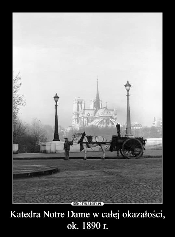 Katedra Notre Dame w całej okazałości, ok. 1890 r. –