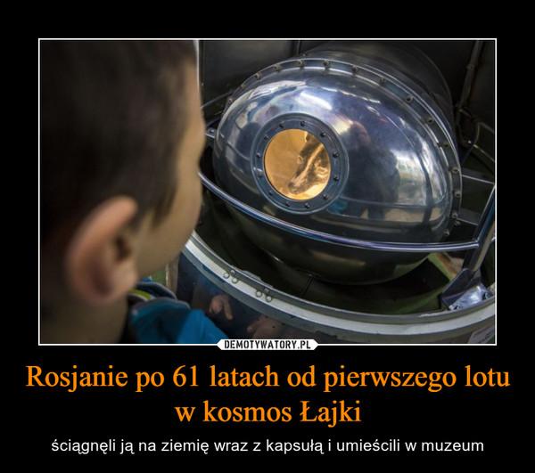 Rosjanie po 61 latach od pierwszego lotu w kosmos Łajki – ściągnęli ją na ziemię wraz z kapsułą i umieścili w muzeum