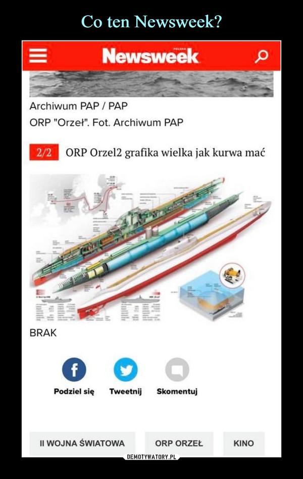 """–  NewsweekArchiwum PAP / PAPORP """"Orzeł"""". Fot. Archiwum PAPORP Orze12 grafika wielka jak kurwa maćII WOJNA ŚWIATOWAORP ORZEŁKINO"""