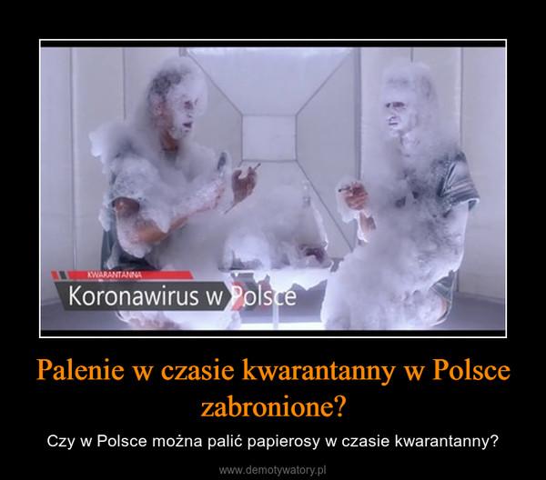 Palenie w czasie kwarantanny w Polsce zabronione? – Czy w Polsce można palić papierosy w czasie kwarantanny?