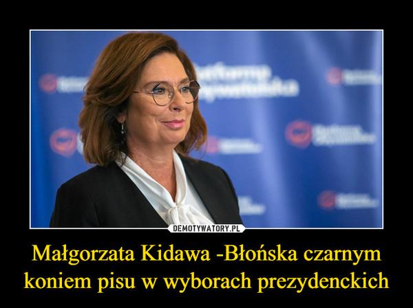 Małgorzata Kidawa -Błońska czarnym koniem pisu w wyborach prezydenckich –