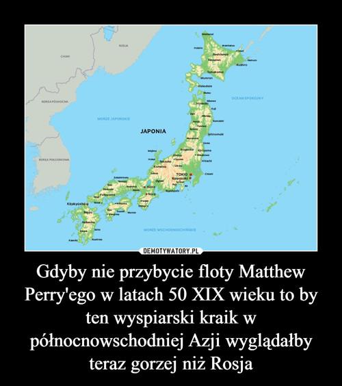 Gdyby nie przybycie floty Matthew Perry'ego w latach 50 XIX wieku to by ten wyspiarski kraik w północnowschodniej Azji wyglądałby teraz gorzej niż Rosja