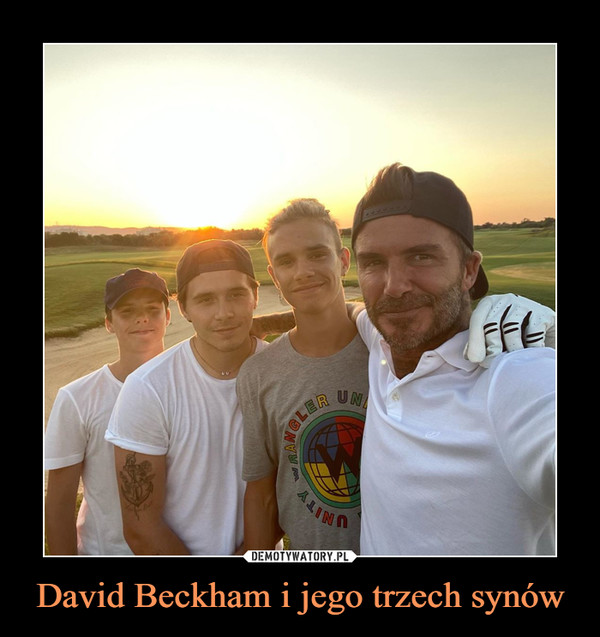 David Beckham i jego trzech synów –