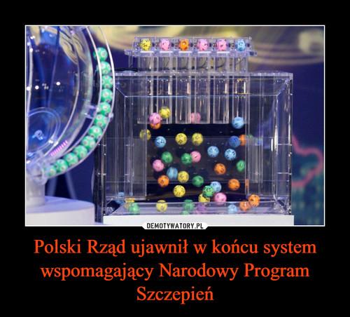 Polski Rząd ujawnił w końcu system wspomagający Narodowy Program Szczepień